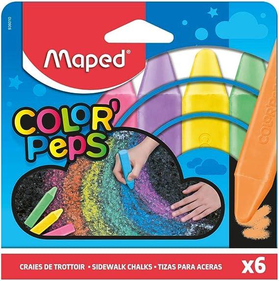 Pack 6 tizas de colores Maped para suelo 13x10cm: Amazon.es: Oficina y papelería