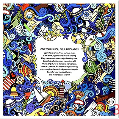 BITOPYTOPSIY 8Type Coloring Hand-Painted Book Cartoon Decompression Coloring& Educational Book for Adults Kids Children: Clothing