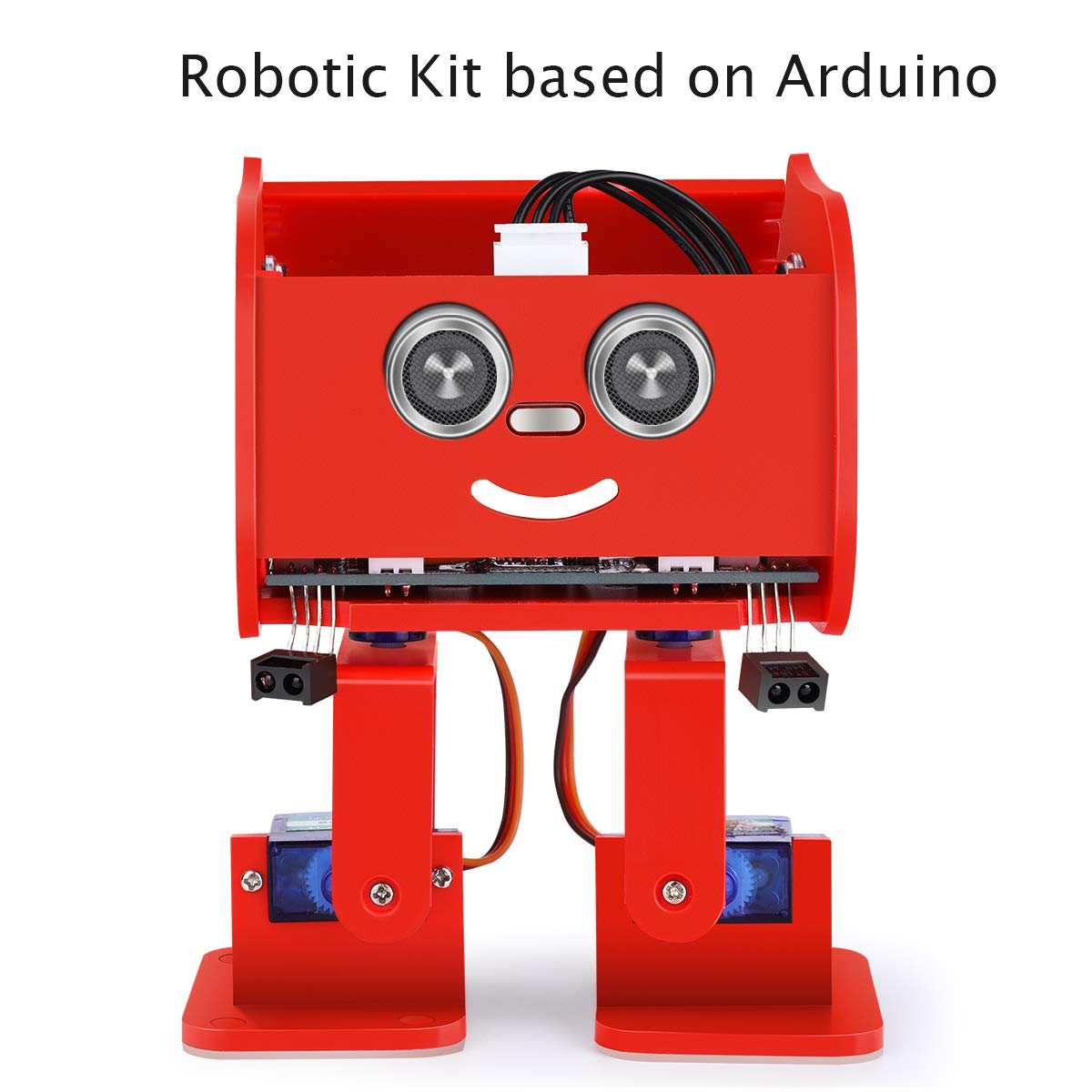 ELEGOO Penguin Bot Biped Robot Kit for Arduino Project with Assembling Tutorial,STEM Kit for Hobbyists, STEM Toys for Kids and Adults, Red Version by ELEGOO (Image #2)