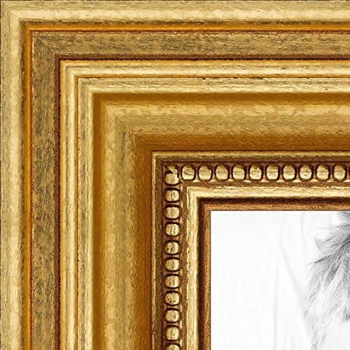 Gold Traditional Frame - ArtToFrames 20x24 inch Gold Foil on Pine Wood Picture Frame, WOM0066-81375-YGLD-20x24