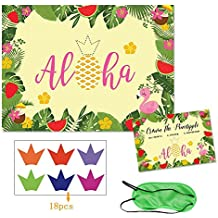 CROWN THE PINEAPPLE - PARTY STICKER GAME FOR YOUR: HAWAIIAN, TROPICAL, BEACH, SUMMER, BIRTHDAY, ALOHA OR LUAU PARTY SUPPLIES and DECORATION NEEDS.