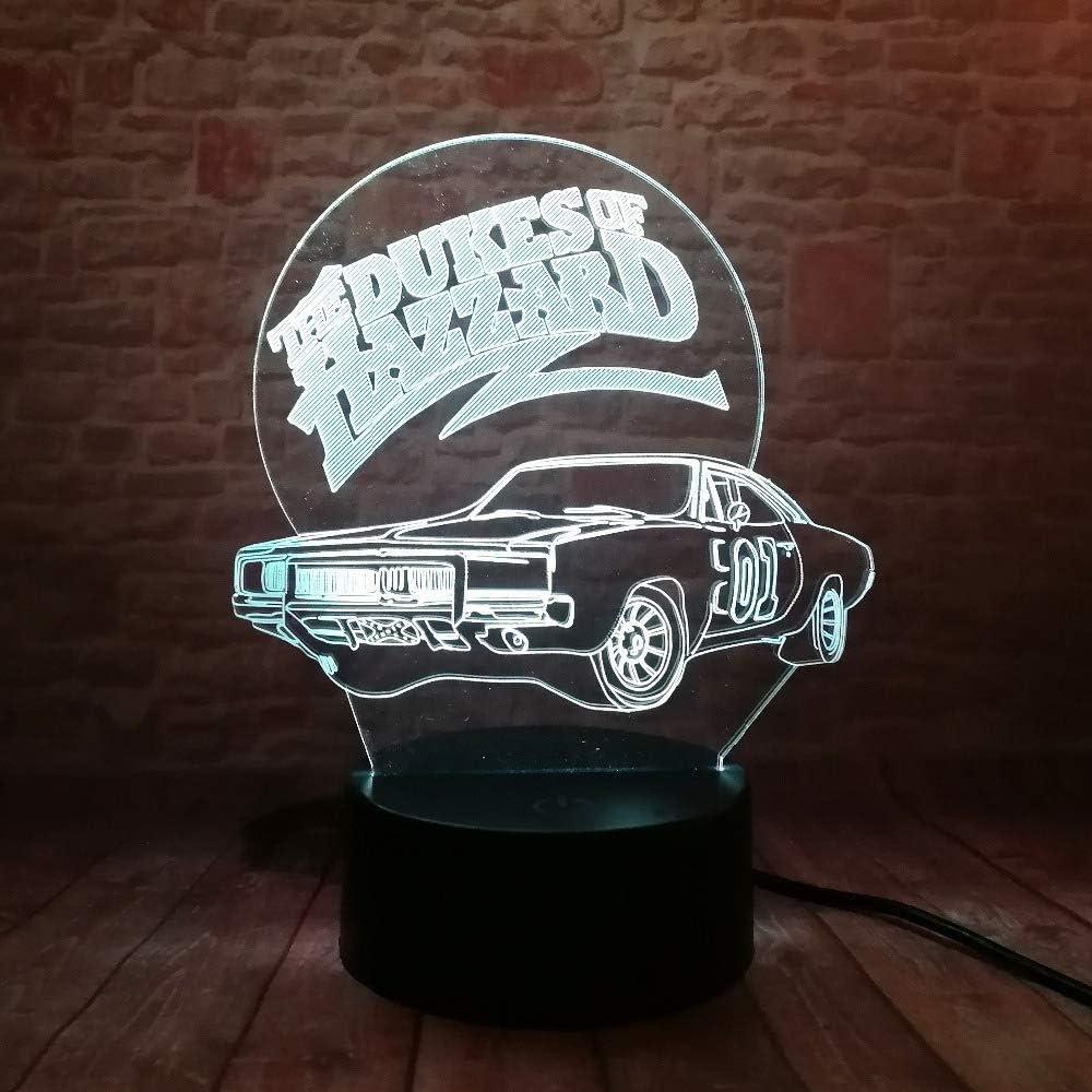 3D Led Night Light Lamp 01 AUTO The Dukes of Hazzard Multicolor 7 Colors