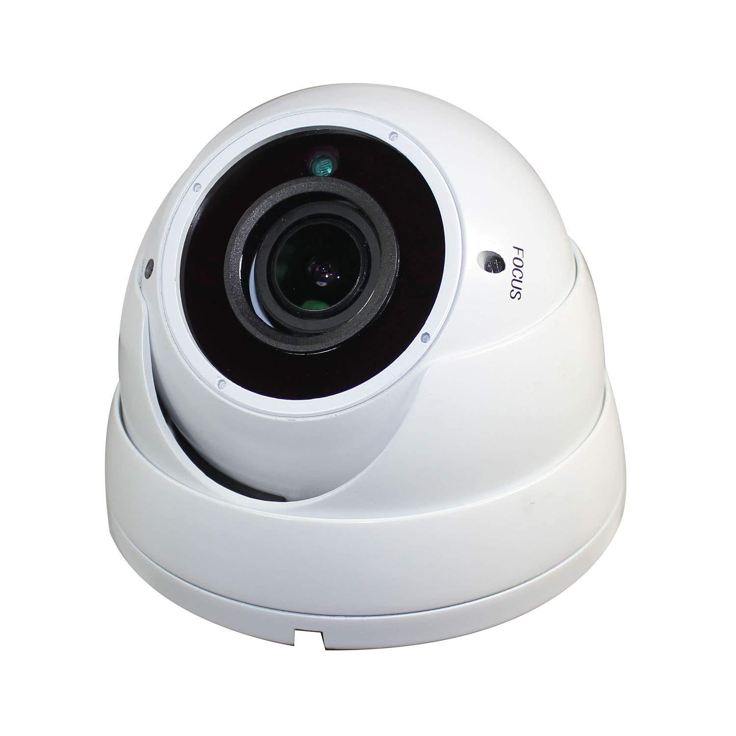 Sinis Security Hybrid C/ámara de vigilancia de seguridad de 5 MP 4 MP 1080P HD-TVI//CVI//AHD//960H CCTV sistema de v/ídeo c/úpula de metal resistente al agua para exterior//interior 2,8-12 mm