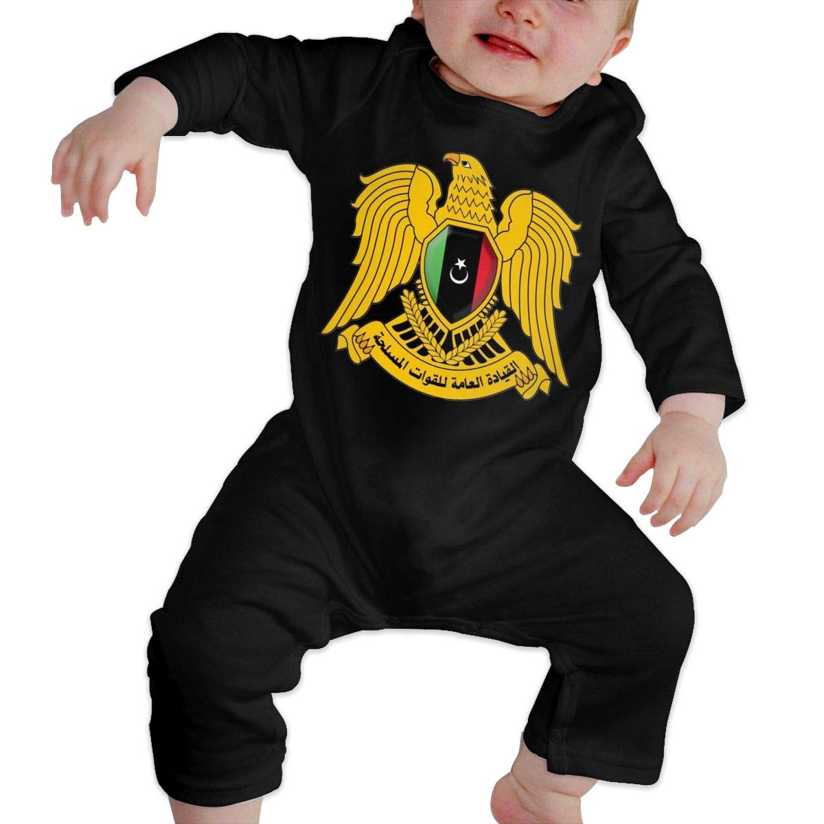 Fasenix Coat of Arms Libya Romper Jumpsuit Long Sleeve Bodysuit Overalls Outfits Clothes for Newborn Baby Boy Girl