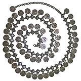 Belly Dance Bohemian Gypsy Hippie Waist Chain Tassel Dangling Coin Adjustable Belt