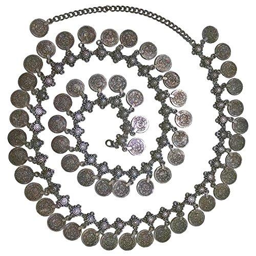 - Belly Dance Bohemian Gypsy Hippie Waist Chain Tassel Dangling Coin Adjustable Belt