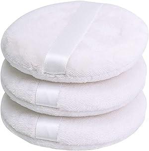 Topwon 4 Inch Powder Puff, Washable Large Body Powder Puff, Soft & Furry - 3Pcs