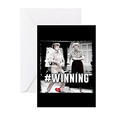 Amazoncom Cafepress I Love Lucy Winning Greeting Card Note Card