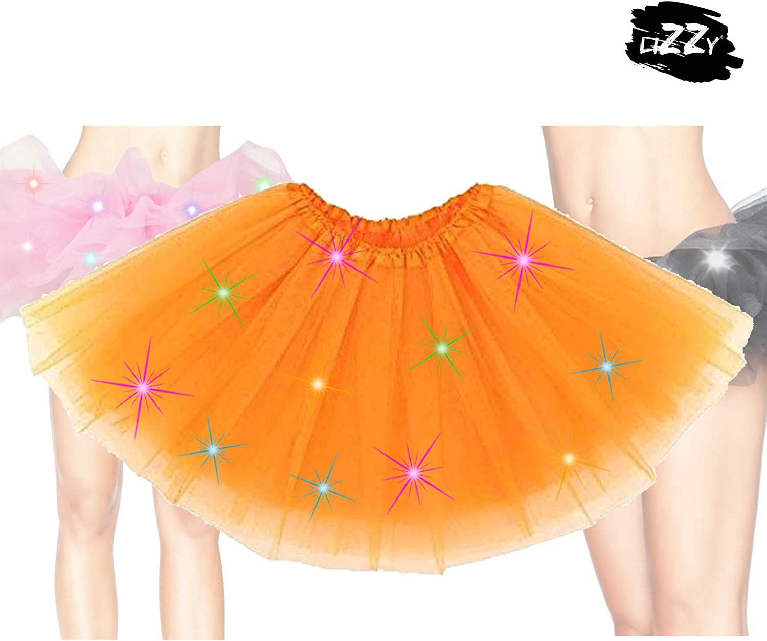 Christmas Party Fancy Dress Stage Dance Skirt Dancewear Lizzy/® Ladies /& Kids Deluxe LED Light Up Tutus
