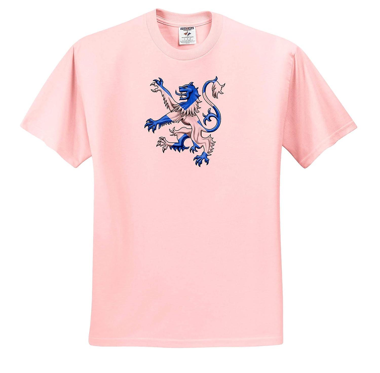 Scotland T-Shirts Andrews Cross Scottish Lion in The Colors of The Scotland Flag St 3dRose Macdonald Creative Studios