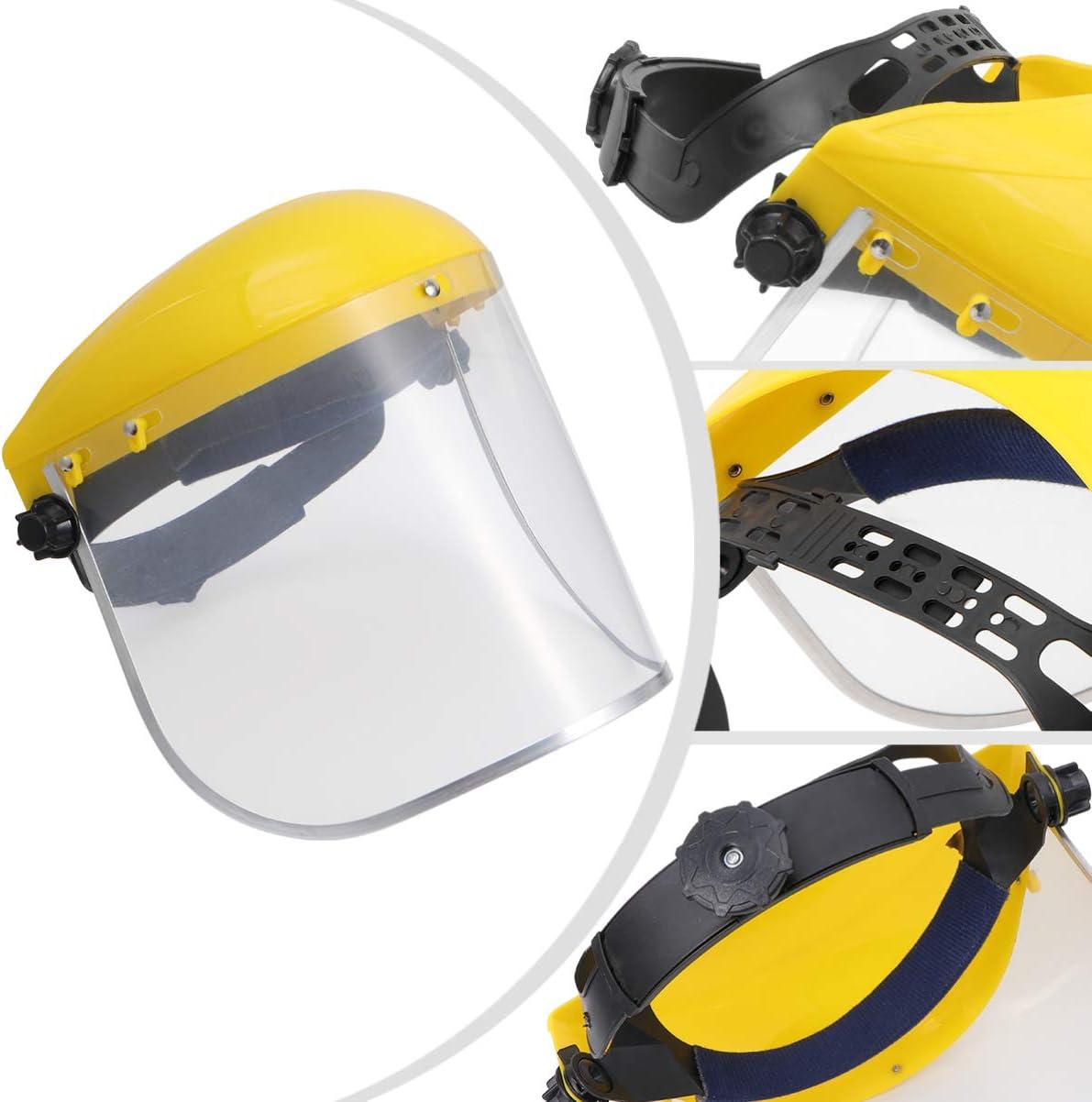 Holibanna Casque Facial Complet de Protection du Visage des Yeux R/éutilisable Chapeau de S/écurit/é Transparent Casquette /à Cliquet pour Enfant Adulte