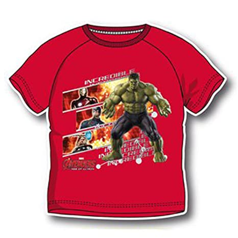 Incredibile Corte Avengers Maglia Maglietta Maniche Hulk T Shirt yv0wNnm8O