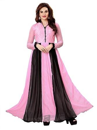 Hanuman Fabrics Fancy And Stylish FANCY BUTTI Purple Color Gown ...