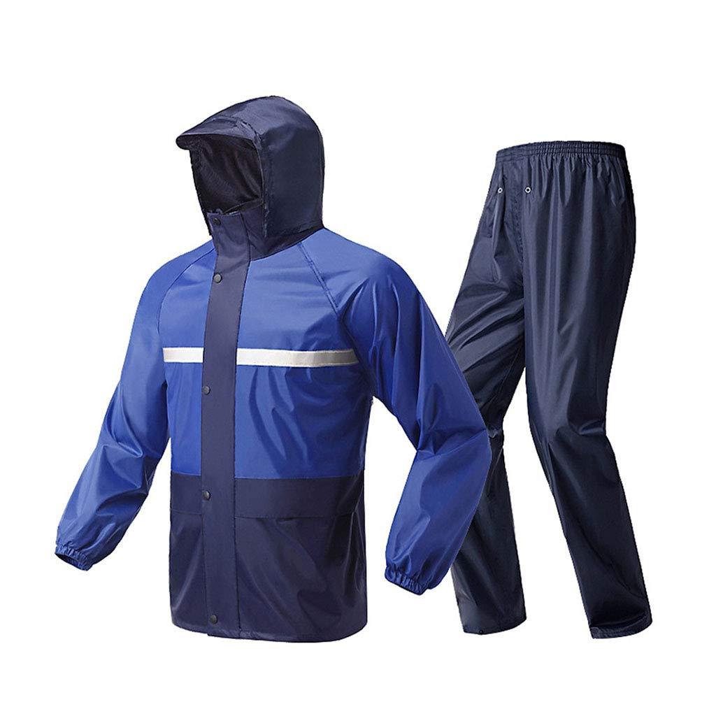 LYP-Rainwear Regenbekleidung Unisex Regenmantel Set Split-Typ Atmungsaktiver Regenmantel + Hose Wasserdicht Regen Anzug für Outdoor Wandern/Angeln / Bergsteigen