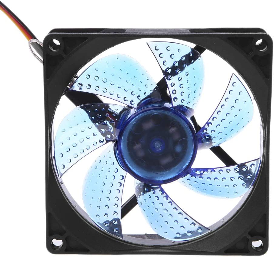 LED Light 3 Pin 90mm PC Desktop Computer Case Cooling Cooler Fan Low Noise 9025