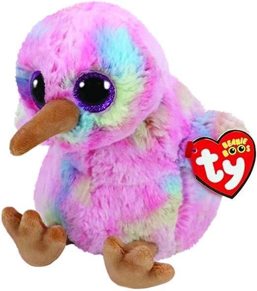 TY Beanie Buddy Kiwi Animales de Juguete Felpa Azul, Rosa, Amarillo - Juguetes de Peluche (Animales de Juguete, Azul, Rosa, Amarillo, Felpa, Pájaro, Niño/niña): Amazon.es: Juguetes y juegos