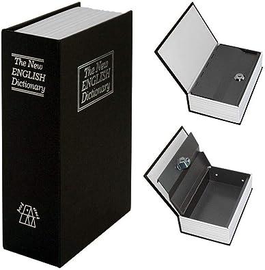 Madprice - Caja Fuerte con Forma de Libro de Metal, Caja de Seguridad Oculta: Amazon.es: Joyería
