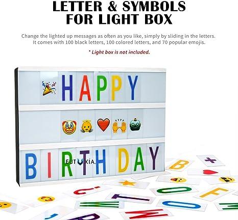 Amazon.com: Eutuxia - Símbolos para caja de luz A4: Home ...