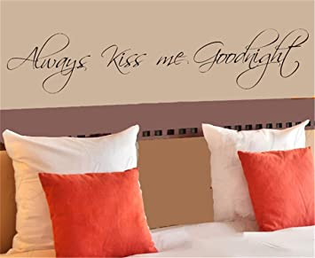 wandaufkleber schmetterling rosa Küss mich immer Gute Nacht ...
