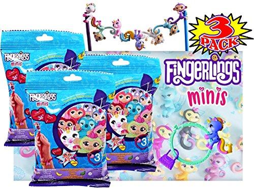 FingerLings Minis Blind Bag Series - 3 Pack of Blind Bags