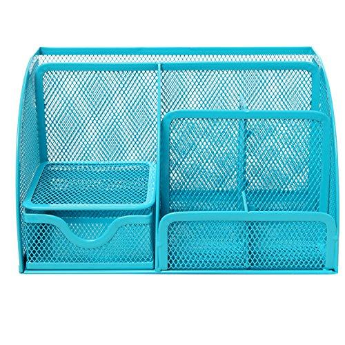 Mygift Multipurpose Turquoise Blue Metal Mesh 6
