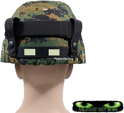 B Blesiya Reflective Cat Eyes Camo Strap Helmet Band for M88 MICH Military Helmet