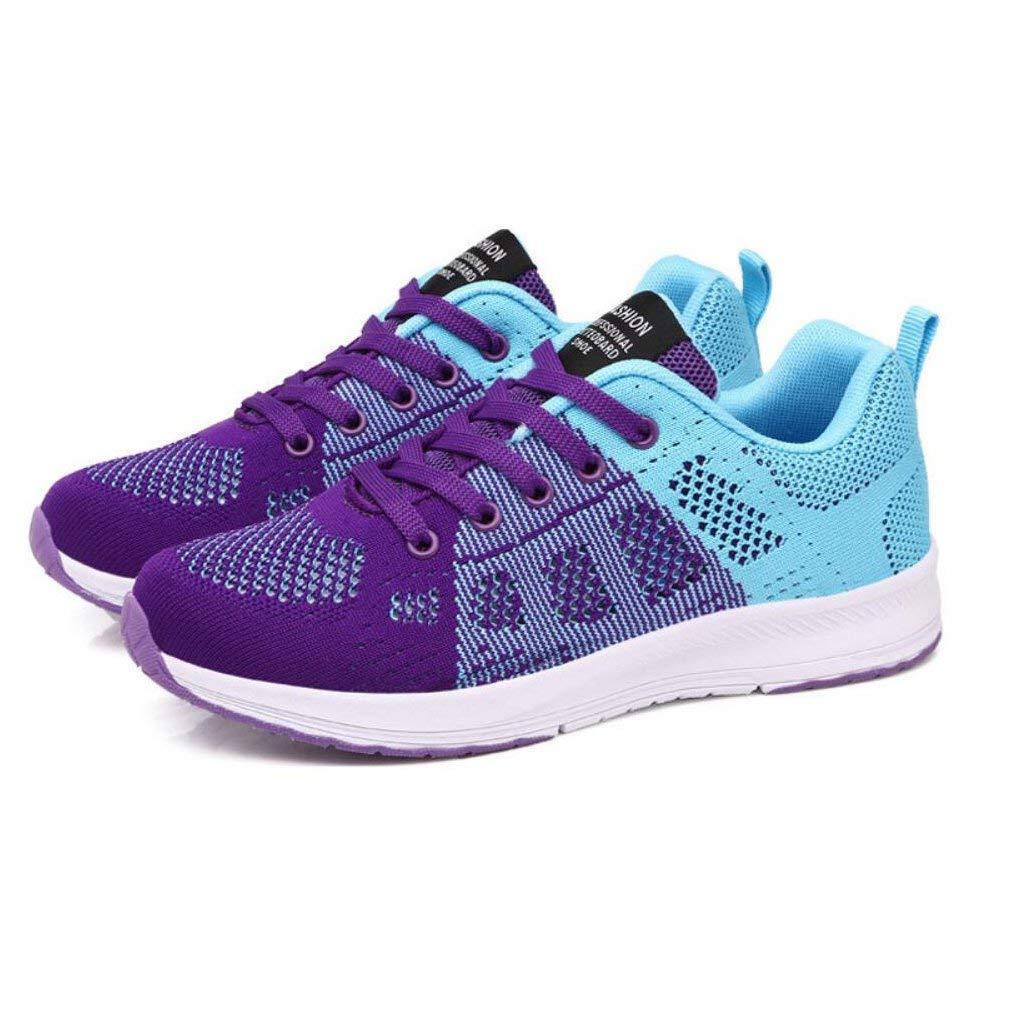 HhGold Turnschuhe der Frauen im Freien beiläufige Schuhe Schuhe Schuhe Schuhe der Sommer Hohle Frauen Damen-Breathable Fliegende Gesponnene Sport-Schuhe Studenten-Leichte Schuhe (Farbe   EIN Größe   36) a9d9ac