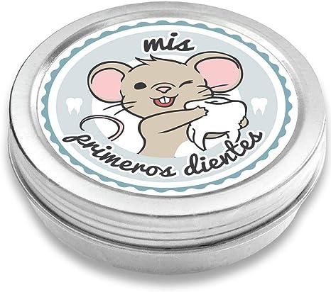 FANS & Friends Caja para dientes de leche para niños y niñas, e-book gratis incluido, Caja para guardar los dientes de bebés, el Ratoncito Pérez (azul): Amazon.es: Bebé