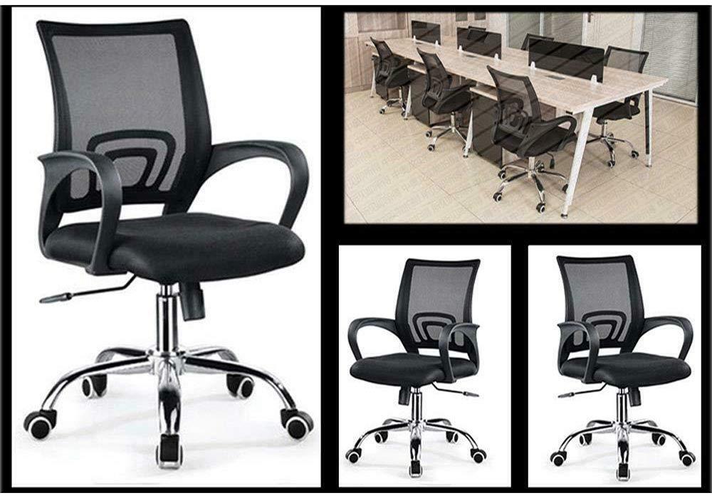 XJIANQI Kontorsstol, personalkontor hiss datorstol enkel, mycket elastiskt skum, svamp, konferensstol, grön gRÖN
