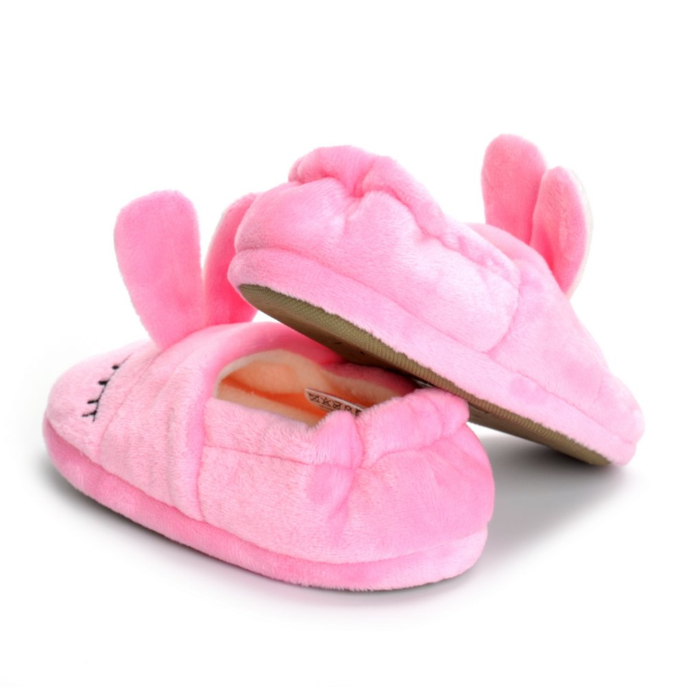 Toddler Girls Pink Bunny House Slippers Warm Cartoon Cute Rabbit Animals Shoes Rubber Sole by MK MATT KEELY (Image #4)