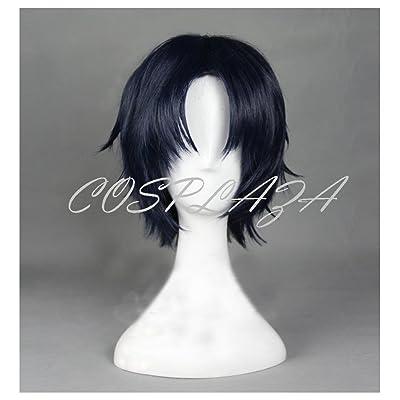 Cosplaza Cosplay Perruque Seraph de la fin Guren Ichinose courte Bleu foncé Halloween Cheveux