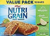 Nutri-Grain Kellogg's Cereal Breakfast Bars, Apple Cinnamon, 16 Count Box