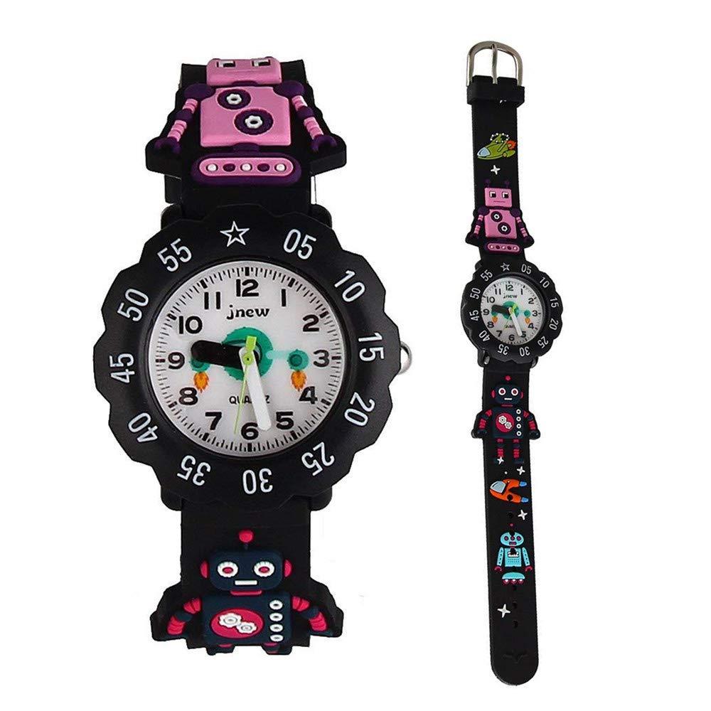 ELEOPTION かわいいイラスト入りクォーツ腕時計 3D シリコンバンド付き 時間を教えるのに最適 小さな女の子/男の子/お子様への贈り物に B077NL7L78 Z- Spaceman Z Spaceman
