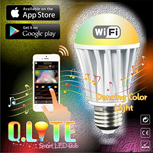 Hot Sale 2017 WiFi LED Light Bulb   Secured Smart Q.Lite™   Full