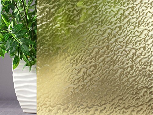Amber Rippled, Decorative, Privacy, Window Film (35''x12ft) by Window Film and More