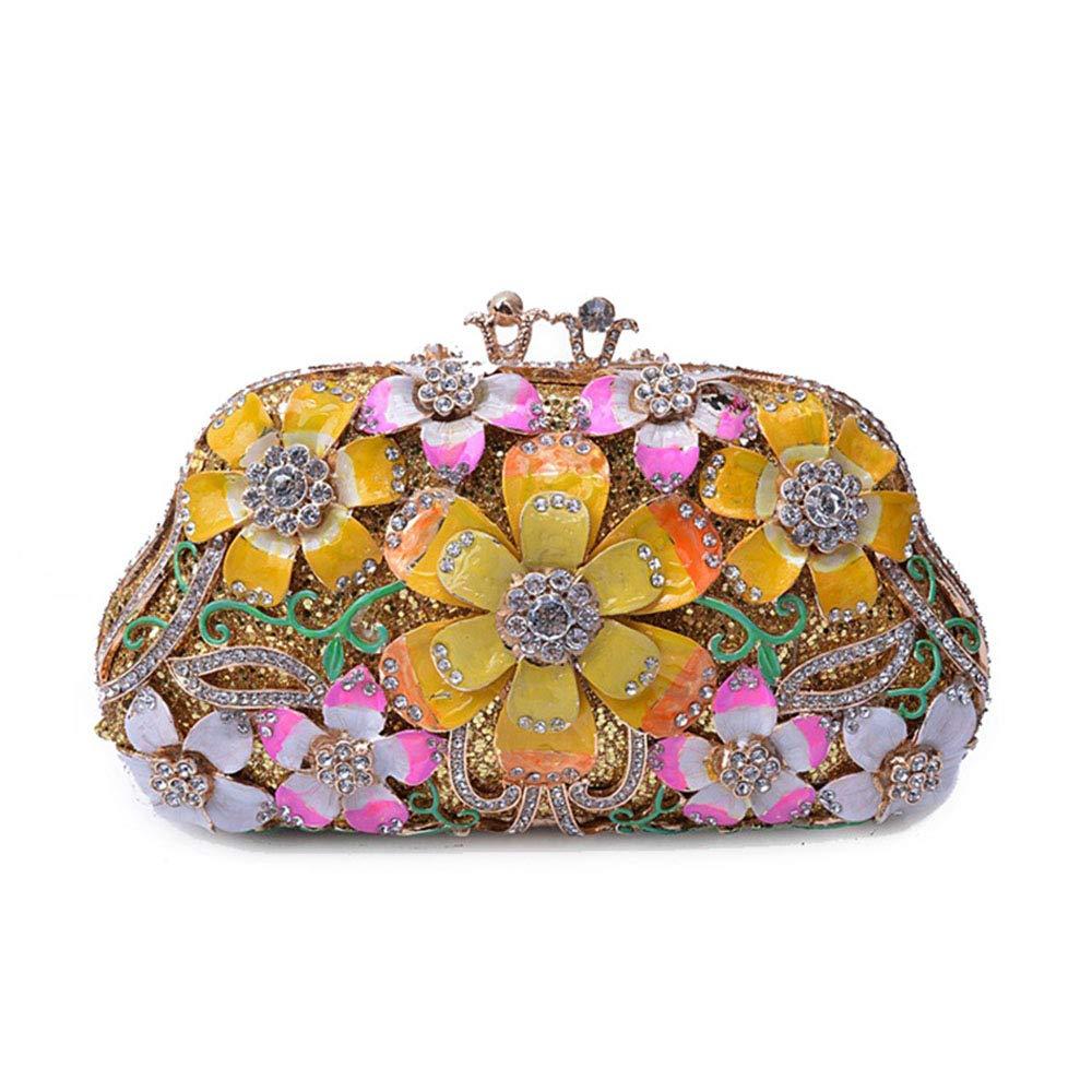 Kathleen Chance Flower Full Diamond Handbag Evening Bag Evening Bag