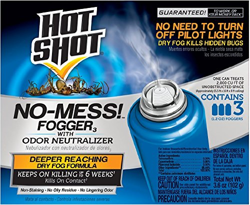 Hot Shot No-Mess! Fogger With Odor Neutralizer, 3/1.2-Ounce from Hot Shot