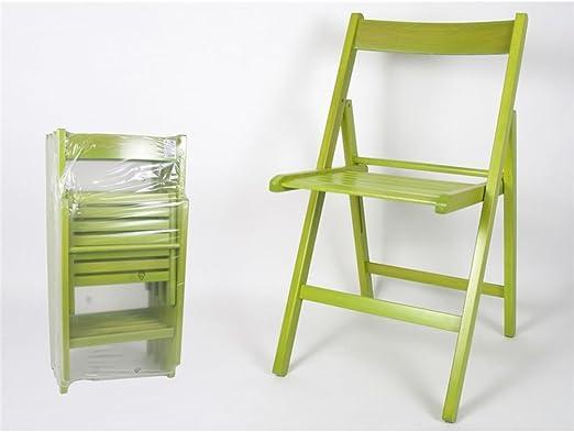 Silla Plegable Madera Color Verde (Precio por Unidad): Amazon.es: Juguetes y juegos