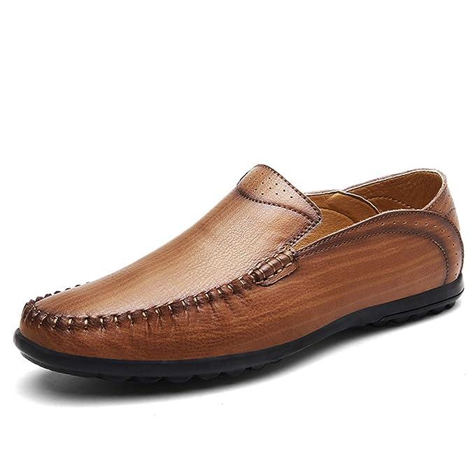 YAN Los Zapatos De Los Hombres Se Deslizan En Mocasines Ocasional Zapatos Mocasines De Cuero Oficina