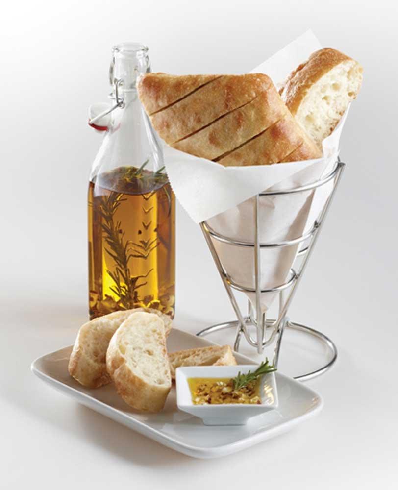 Signature Breads Diamond Pull Apart Ciabatta Bread Loaf, 4.5 Ounce -- 78 per case.