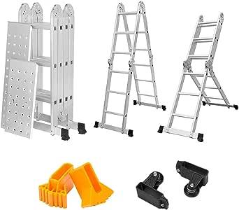 Finether 12 1 Ft Folding Ladder Heavy Duty Multi Purpose