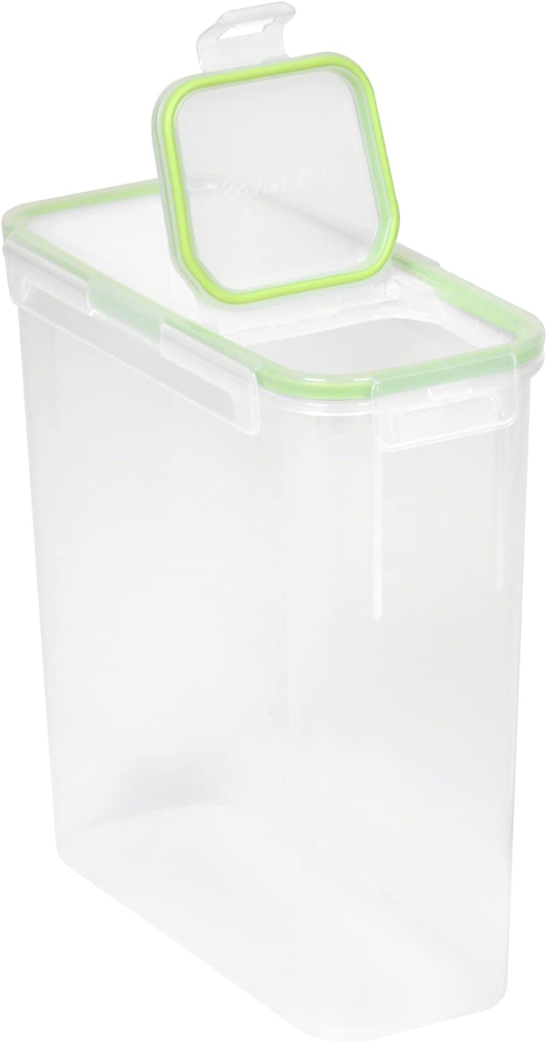 Snapware Airtight 15.3-Cup Slim Rectangular Food Storage Container with Fliptop Lid, Clear