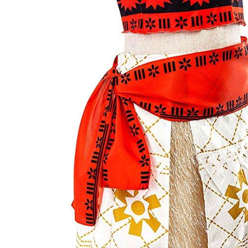 Little Girls Cosplay Dress Up Princess Moana Costume Skirt Set