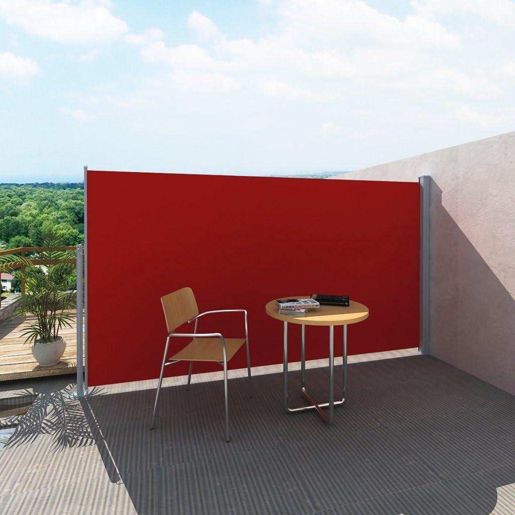 Anself - Toldo Lateral para Patio Terraza Jardín Balcón, Soporte De Acero (180x0-300cm, Rojo): Amazon.es: Hogar