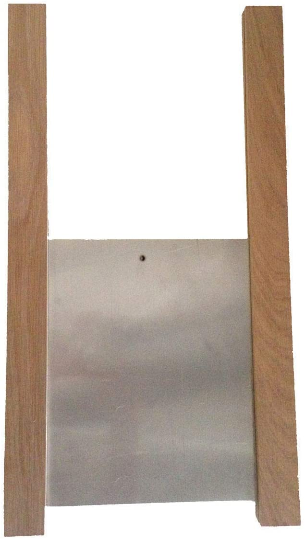 ChickenGuard Classic Chicken Coop Door and Runner Kit, Hen House Pop Hole Door, Weatherproof Oak Runners with Aluminium Door 30cm x 40cm (Door kit only)