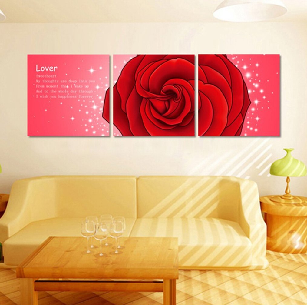 Amazon.com: Babfaelry 3 PCS Wall Decor Sweet Heart Lover Painting 50 ...