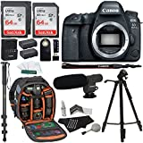 72 in 1 card reader - Canon EOS 6D Mark II Digital SLR Camera Body, Sandisk Ultra 64GB 2 Pack, Ritz Gear Camera Backpack, Tripod, Replacement Battery, Cleaning Kit, Monopod with Quick Release, and Accessory Bundle