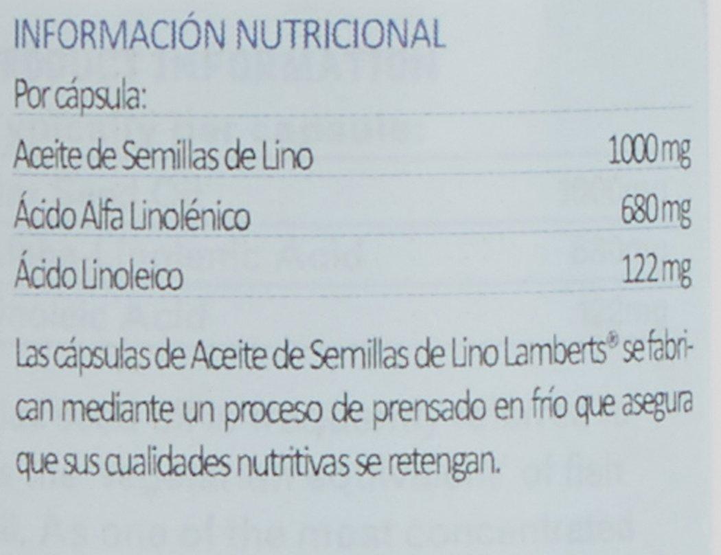 Lamberts Aceite de Semillas de Lino 1000 mg - 90 Cápsulas: Amazon.es: Salud y cuidado personal
