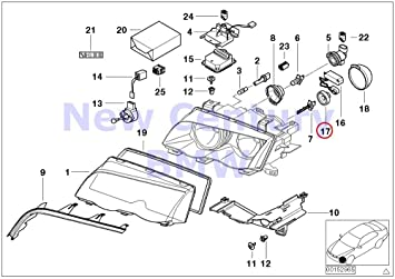 BMW OEM X5 Foglight Fog Driving Light Lamp-Fog Lamp Assembly Screw 07119901299