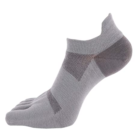 Non Slip Skid Pilates Yoga Socks with Toes Anti-Slip Full ...